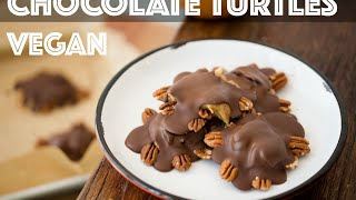 Vegan Chocolate Turtles - Candy - DIY