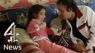 Muammar Gaddafi relaxes at home | Channel 4 News