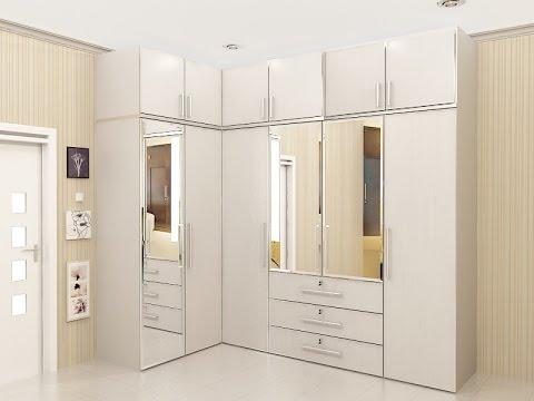 lemari pakaian minimalis model sudut
