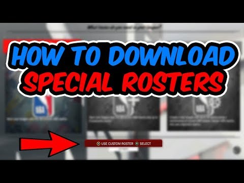 HOW TO DOWNLOAD SPECIAL COMMUNITY ROSTERS|NBA 2K18