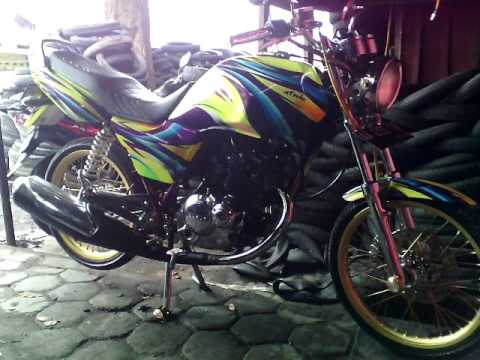 Suzuki Thunder 125 Modif AIRBRUSH & KROM ( SUZUKI THUNDER 125 MODIFIED INDONESIA ) # TOP MODIFIKASI