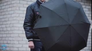 Видеообзор мужского зонта автомат. Купить мужской автоматический зонт.