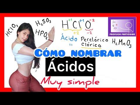 Nomenclatura química Ácidos nombra ácidos fácil y rápido