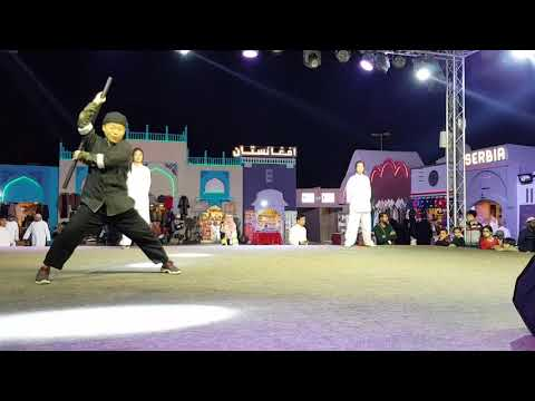 Tajikistan marshal art performance in Abu Dhabi