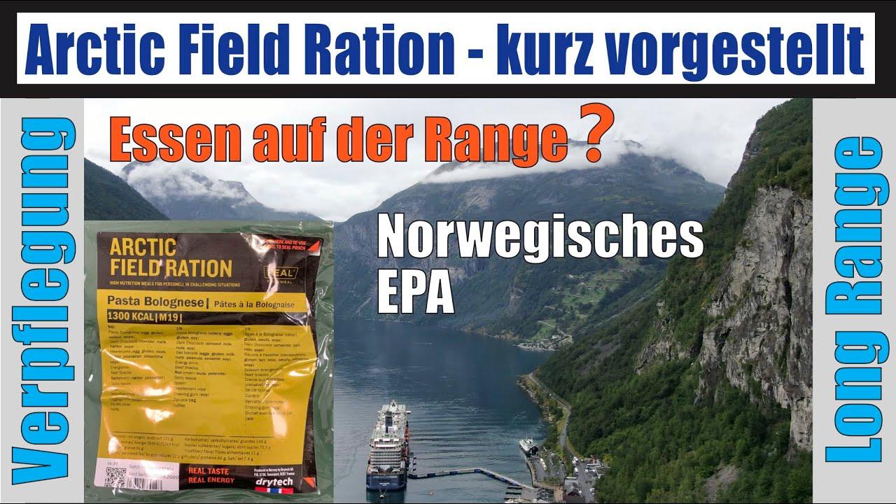 MRE NORWEGISCHES EPA ARCTIC FIELD EINMANNPACKUNG ESSENSRATION Neue Produktion