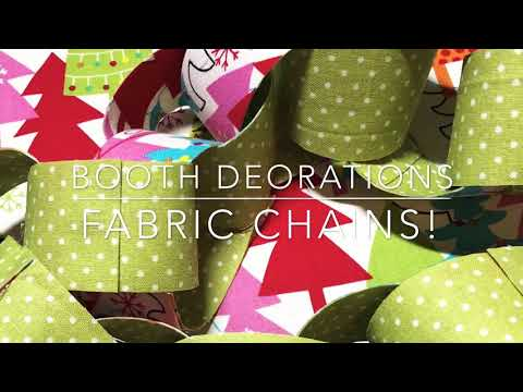 Craft Fair Series 2018- Booth decorations-Fabric Chains!