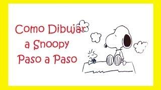 Como dibujar a snoopy paso a paso | Charlie Brown | How to draw snoopy step by step
