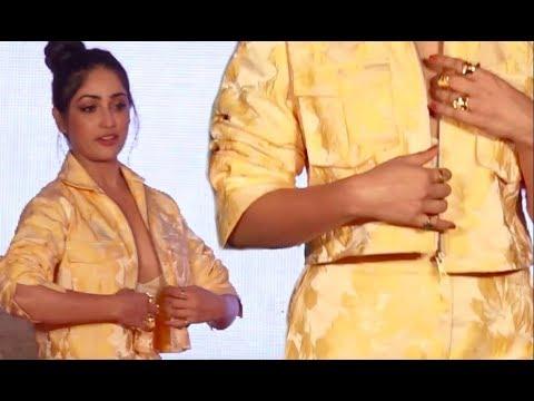 Yami Gautam Awkwardly Adjusting Dress Throughout The Event