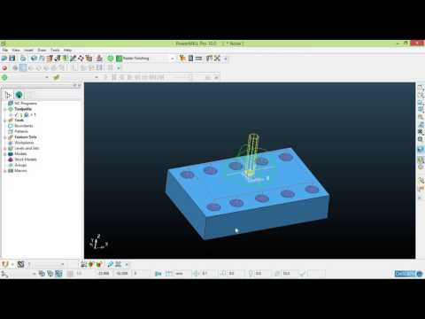 Autodesk PowerMILL Tutorial - 12 - Drilling, Pitcher, 2D Program