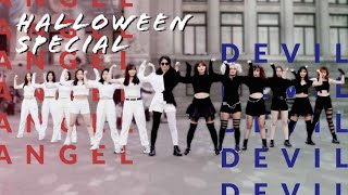 [KPOP IN PUBLIC] Halloween Special: Angel vs. Devil Dance Battle (Funny Ending)