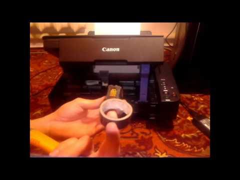 Как заставить печатать принтер Canon без цветной краски???