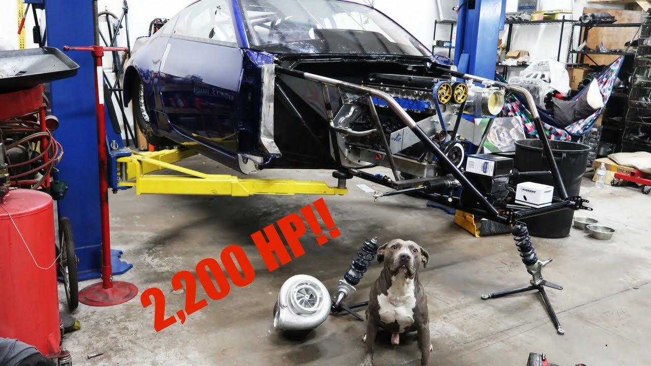 3.4 LITER 2JZ 3/4 CHASSIS DRAG CAR! (SHOP TOUR) - YouTube