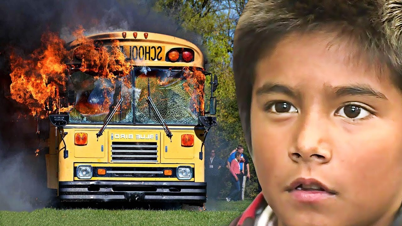 Boy smells 'something weird' on school bus, takes one look at driver and calls 911
