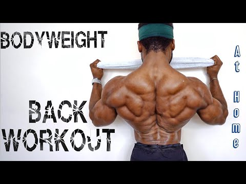 THE BEST BODYWEIGHT BACK WORKOUT AT HOME   (No Pull Up Bar)