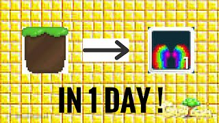 Growtopia - Dirt To Rainbow Wing / In 1 Day (Easily)