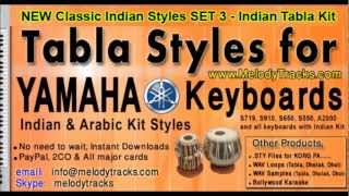 Tabla Styles for YAMAHA Keyboards Indian Kit for Bollywood Songs - Classic Pack 3