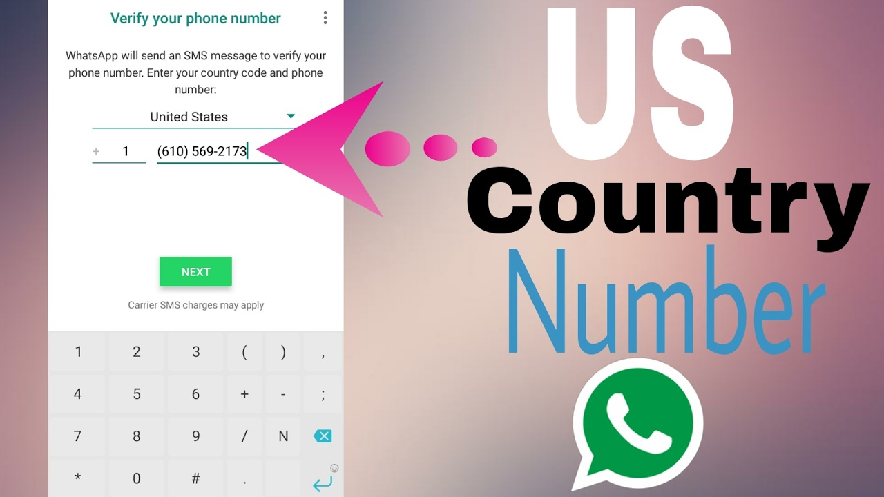 how to add us number to whatsapp