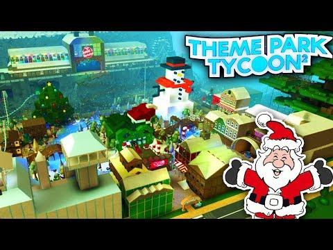 AMAZING CHRISTMAS PARK!! - Theme Park Tycoon | Roblox