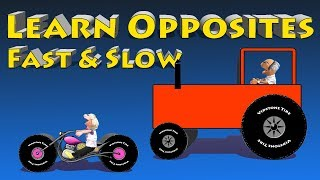 Fast And Slow - Kids Vehicles Dozer Tractor Car Bus Helicopter Truck