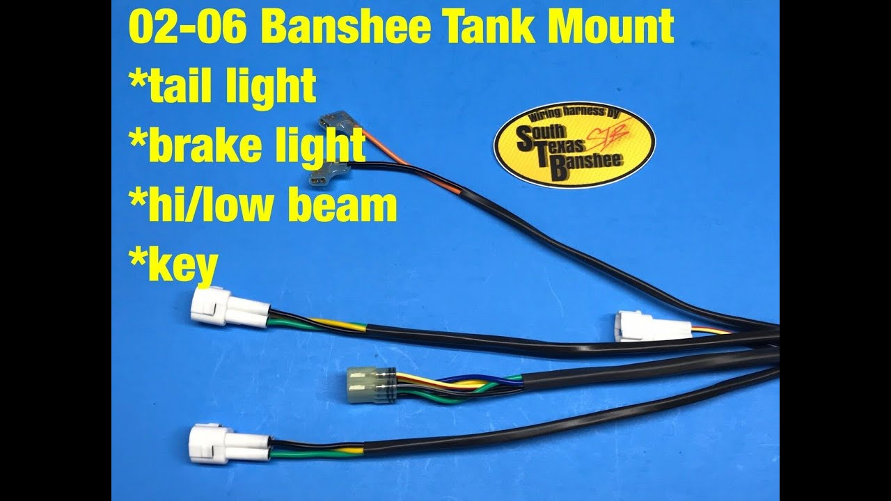 banshee 02-06 tank mount wiring harness - youtube  youtube