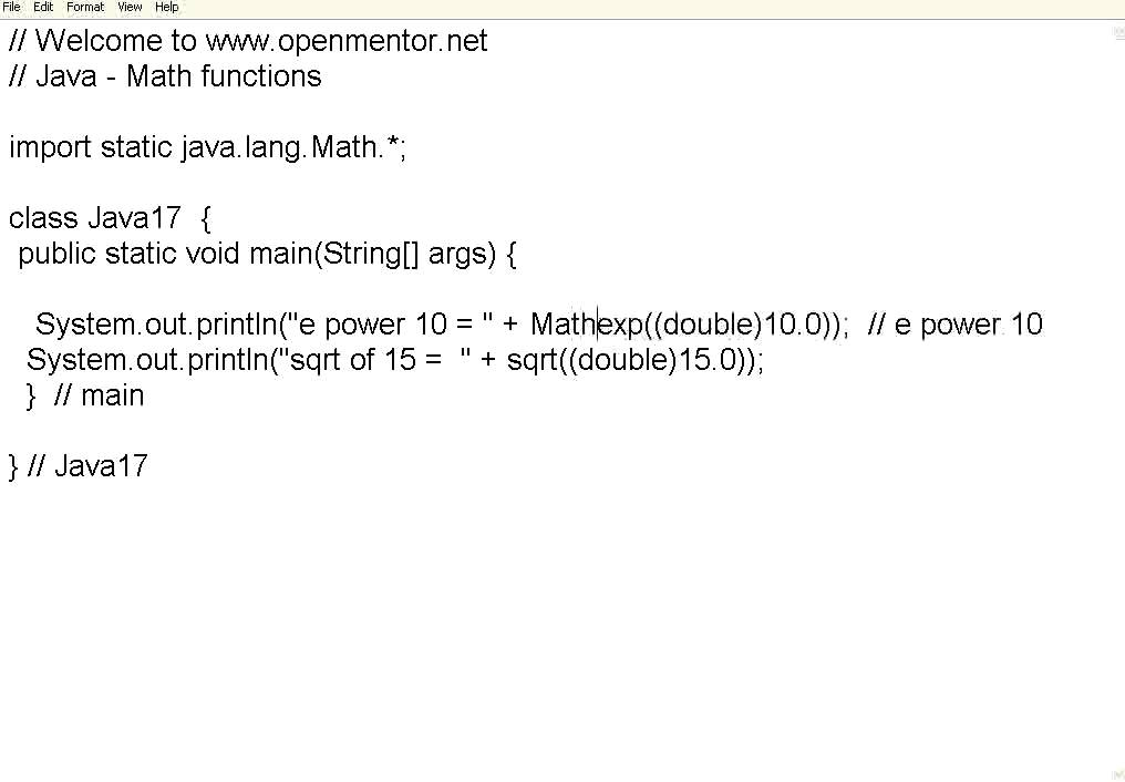 Java Part 17 Math Functions   YouTube