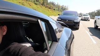 DRIVING THE AUDI R8 & TESLA MODEL X TOGETHER