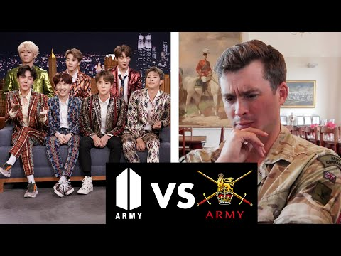 Real Army Major Reacts to BTS Army!!?