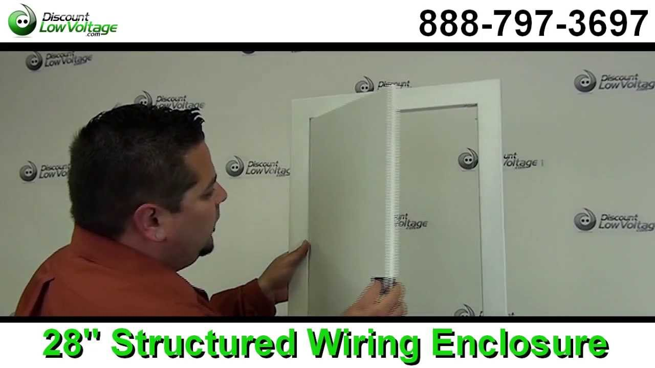 Structured Wiring Enclosure Box 28 Home Automation Youtube Panel