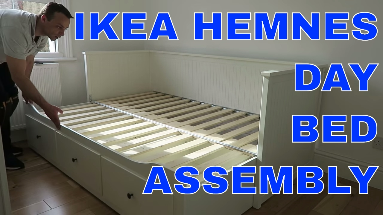 IKEA HEMNES Daybed frame with 3 drawers assembly  YouTube