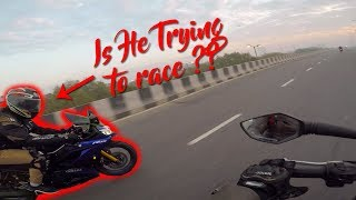 Was He trying to Race with me ?? RTR 200 vs R15