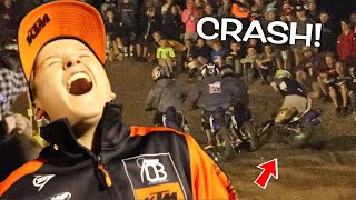 HUGE PITBIKE CRASH! SURPRISED MY BEST FRIEND & CHRISTMAS WITH THE DEEGANS