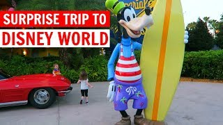 SURPRISE DISNEY TRIP & POP CENTURY | Travel Day | WDW Vacation February 2017 Day 1