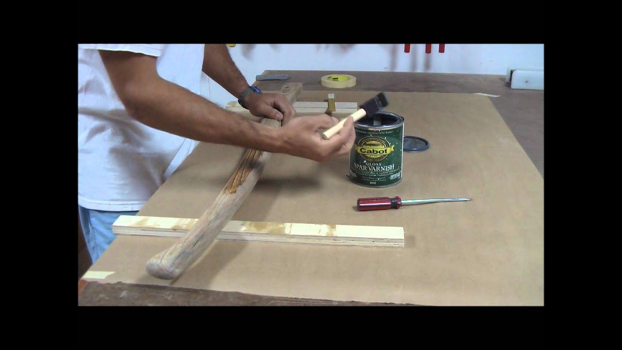 Refinishing A Sailboat Tiller Handle