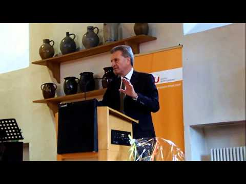 150118 Guenther Oettinger in Muehlacker