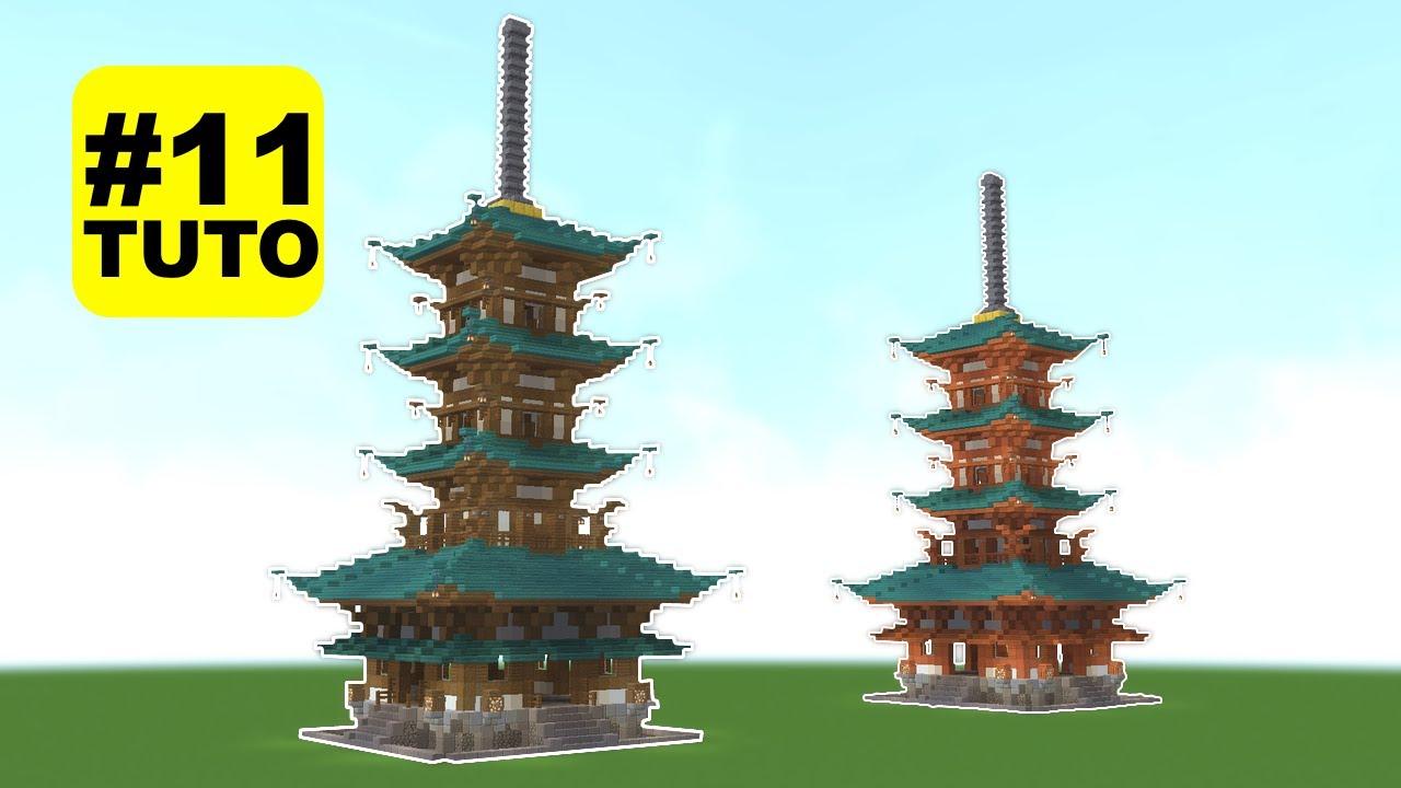 Comment Construire Un Temple Japonais 11 Minecraft Youtube