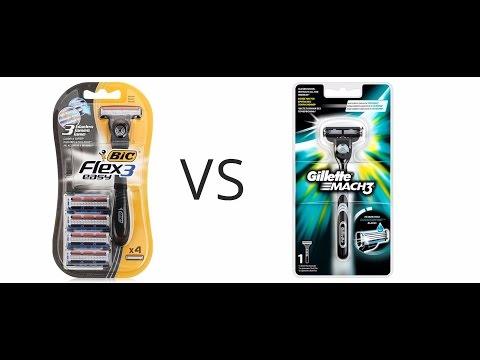 Бритва Bic Flex 3 Easy VS Gillette Mach 3