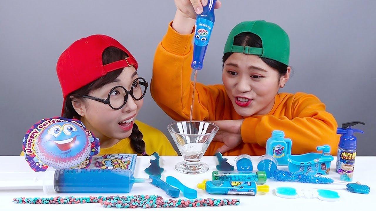 Mukbang Twist Rainbow drink 트위스트 음료수 모음 DONA 도나