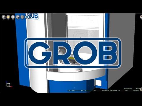 GROB G350 Machine Tool CNC Simulation with NCSIMUL