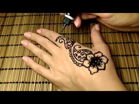 Мехенди (менди) на руке, роспись хной. Mehndi Henna.