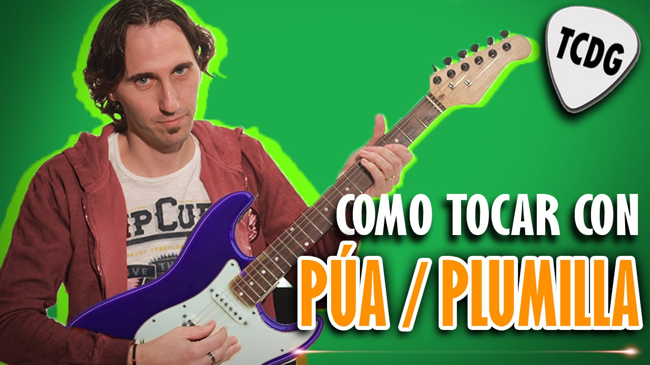 Como Tocar Guitarra Eléctrica Con Púa /Plumilla. Tutorial Súper ...