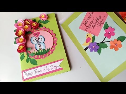 DIY Friendship Day Card   How to make card for friends