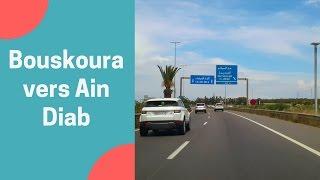 Balade voiture 🚘 Bouskoura vers Ain Diab Morocco Mall Casablanca