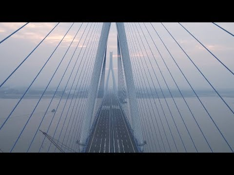 Widest Bridge over Yangtze River Opens in Wuhan