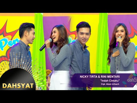 Serasinya Nicky Tirta & Rini Mentari Saat Menyanyikan ''Indah Cintaku'' [DahSyat] [5 Agustus 2016]