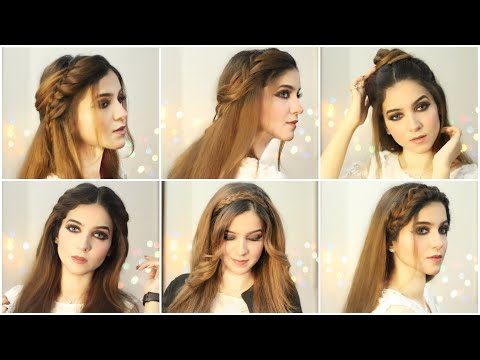 6-easy-hairstyles|-hairstyles-for-girls|-open-hairstyles-|-hairstyle-for-eid|-how-to-style-long-hair