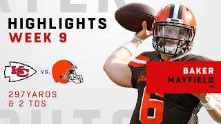 Baker Mayfield Racks Up 297 Yards & 2 TDs vs. KC