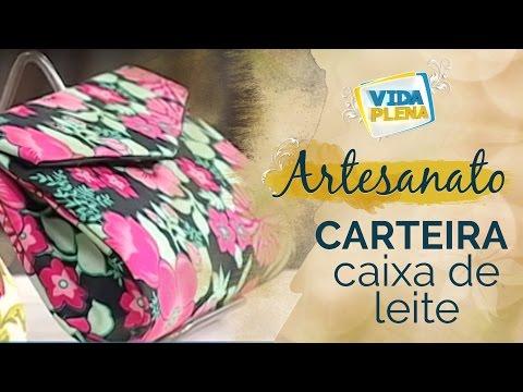Artesanato - Carteira de Caixa de Leite | Bolsa de Caixa de Leite