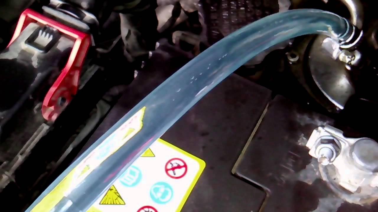 Подсос воздуха через помпу прокачки. New actyon