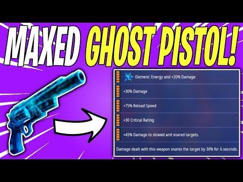 NEW HALLOWEEN GHOST PISTOL REVIEW! Ghost Pistol ALL LEGENDARY PERKS | Fortnite Save The World