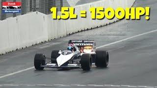 1500HP Brabham F1 BMW Turbo! - MOST POWERFUL Formula One CAR!